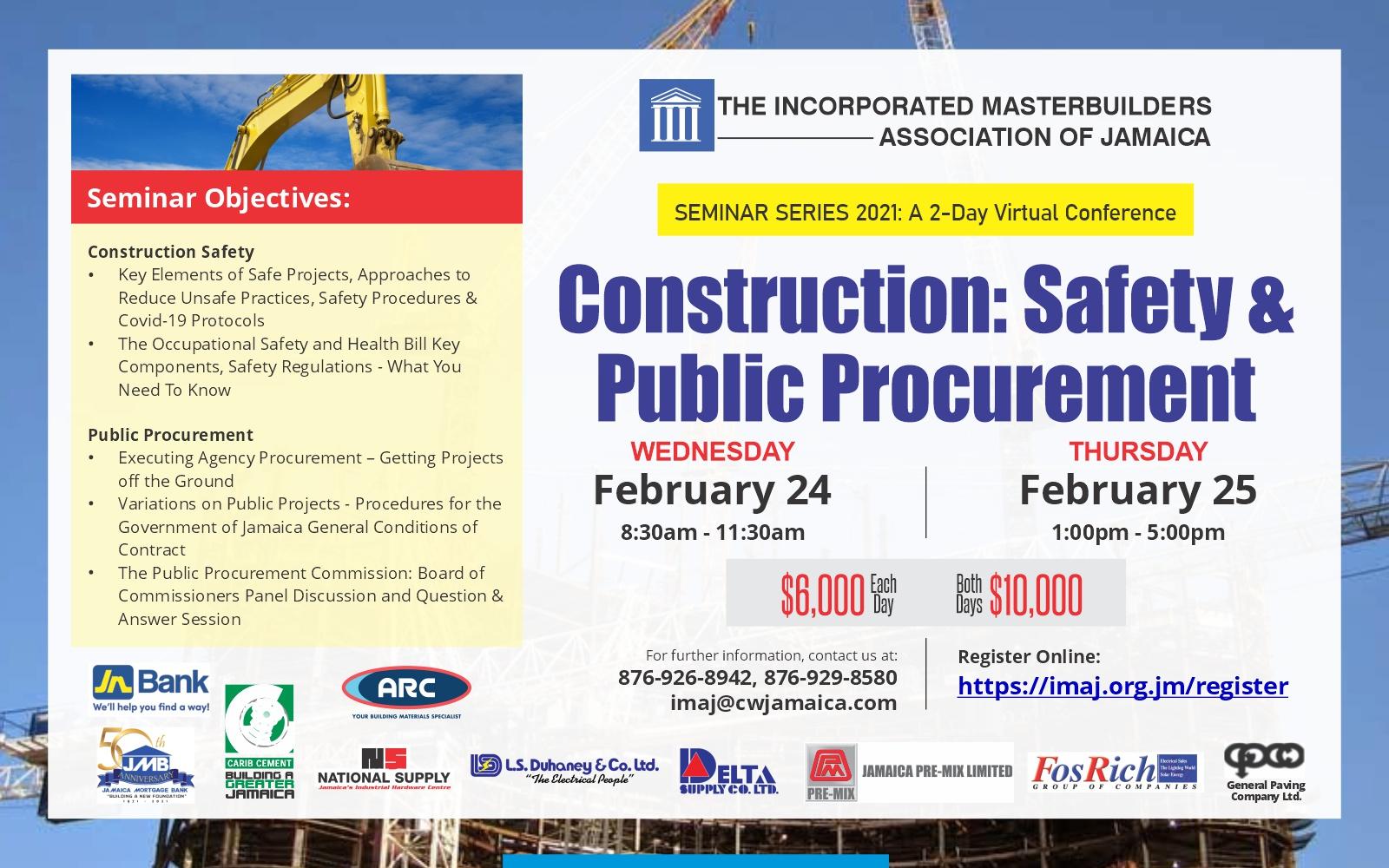 IMAJ Seminar Series 2021- Construction: Safety & Public Procurement